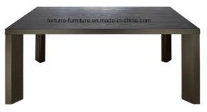Wooden Modern Veneer Laminated UV Black Dining Table (I&D-6041)