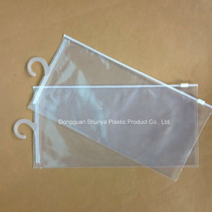PVC Hook Bag PVC Bag with Slid Zipper and Hook for Packing pictures & photos
