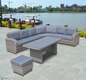 Half Round Rattan Patio Wicker Furniture Buffalo Lounger Combination Sofa Set (J695) pictures & photos