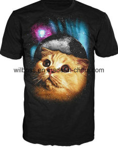 Hot Custom Quality CVC Thermal Transter Printing Man′s T-Shirt of Round Neck pictures & photos