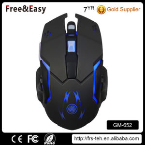 Black OEM Logo Desktop Wired USB Illuminated PC Gaming Mouse pictures & photos