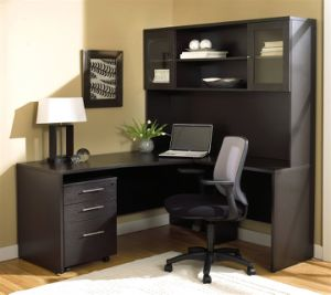 Filing Cabinet Attached Office Desk Wooden Home Office Furniture (HX-N00029) pictures & photos