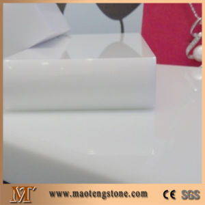 High Quality Hotel Kitchen Pure White Crystallized Stone Nano Glass Countertop pictures & photos