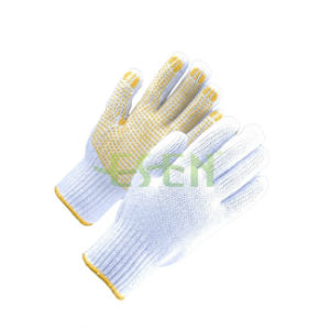 Palm PVC Dotted Gloves, Cotton PVC Dotted Gloves pictures & photos