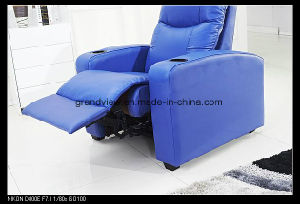 Movie Chair Home Cinema Seating Sofa Blue Manual Recliner Chair pictures & photos