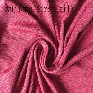 Spun Silk Viscose Jersey Fabric 30%Wool 70%Viscose pictures & photos