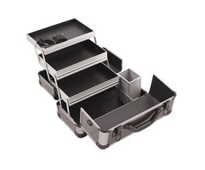 Professional Aluminum, 3 Tier Tray and Brush Holder, Locking with Shoulder Strap Beauty Case pictures & photos