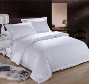 100% Cotton 500t White Satin Bedding Set pictures & photos