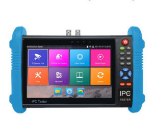 7 Inch IP CCTV Camera Tester Monitor Cvbs H. 265 4k Camera Tester Rapid Onvif WiFi 12V Poe Output