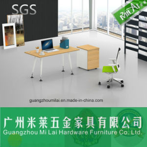 Simple Wooden Office Furniture with Metal Frame Table Leg pictures & photos