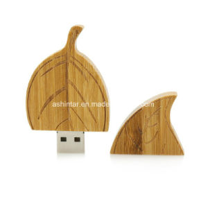 Wood Leaf Shape USB Flash Disk USB2.0 Memory Stick pictures & photos