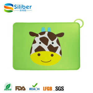Custom Animal Printing Kids Silicone Placemat Baby Dining Mat pictures & photos