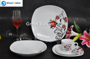 20PCS Crockery Newest Decal Set, Square Dinner Plate pictures & photos