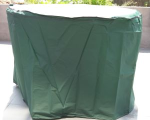 Dark Green PEVA Patio Round Table Cover pictures & photos