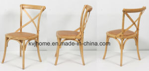 Natural Birch Wood Cross Back Chair for Restaurant pictures & photos