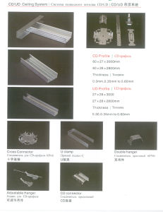 Suspended Ceiling System CD and Ud Profile Frame pictures & photos