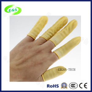 Top Quality Anti-Static Cream-Colored Antistatic Latex Finger Cot of Protectability pictures & photos