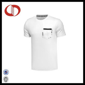 Two Color Simple Design Men′s Sportswear T-Shirts with Pocket pictures & photos