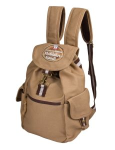 Cotton Canvas Made Ladies Leisure Drawstring Rucksack Backpack pictures & photos