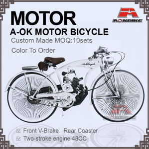 48cc Engine Bike 280PCS Spoke Gas Moror Bicycle (MB-18-3) pictures & photos