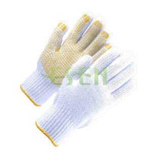 Factory Direc Sales Custom Ansell Edge Palm PVC Coated Work Gloves, Cheap Work Gloves pictures & photos