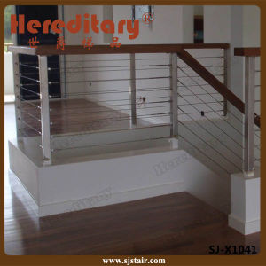 SUS 304# Stainless Steel Cable Railing Balustrade for Balcony / Deck (SJ-H1631) pictures & photos