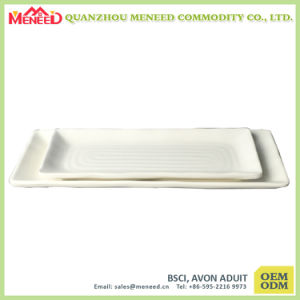 White Solid Color Melamine Cheap Plastic Trays pictures & photos