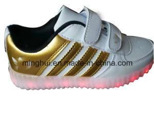 Colorful LED Shoes Sport Shoes Women Men Kids Shoes pictures & photos