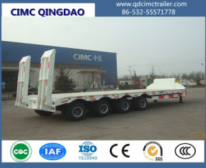 Cimc 3 Axle Low Bed Excavator Transport Trailer Truck Chassis pictures & photos