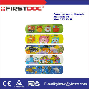 Medical Tape Band Aid Adhesive Bandage 72*19mm PE Cartoon Band-Aid Combination Package pictures & photos