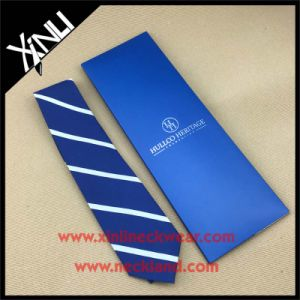 China Manufacturer 100% Handmade Stripe Woven Silk Necktie pictures & photos