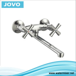 2016 New Style Double Handle Wall-Mounted Kitchen Mixer Jv 74405 pictures & photos