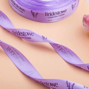 Custom Logo Designs Printed Satin Ribbon pictures & photos