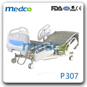 Three Functions Electric Hospital Patient Bed with Ce& ISO, Parts for Electric Adjustable Bed pictures & photos