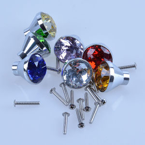 2017 Crystal Glass Door Drawer Cabinet Wardrobe Pull Handle Knob 30mm pictures & photos