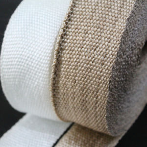 High Temperature Resistant Fiberglass Heat Treated Heat Cleaned Woven Tape pictures & photos