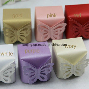 Bw189 Butterfly Pearl Paper Wedding Party Favors Gift Box pictures & photos