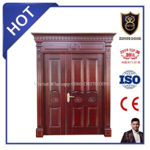 Double Entrance Door Solid Wood Doors for Villa pictures & photos