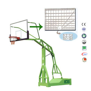 Movable Outside Steel Basketball Stand with Tempered Glass Backboard pictures & photos