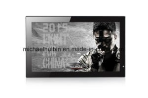 18.5inch TFT LED HD Screen Wall-Mounted Advertising Video Player (HB-DPF1851) pictures & photos
