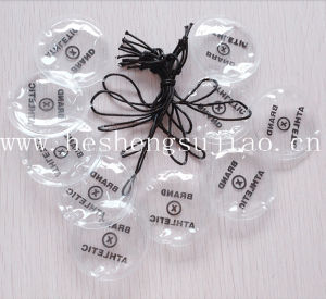 Hot Stamping Label Hang Tag, Plastic Tag for Clothing Accessiers pictures & photos