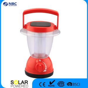 Three Colors Hand Portable Solar Camping Lantern pictures & photos