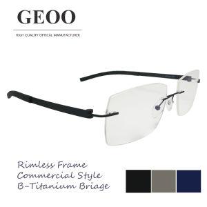 Stainless & B-Titanium Bridge Optical Frame (XS5654) pictures & photos