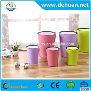 Fashionale Cheap Novelty Colored Kids Mini Plastic Trash Can pictures & photos