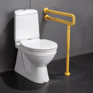 Toilet Stainless Steel Nylon U-Shaped Grab Bars with Leg Support pictures & photos