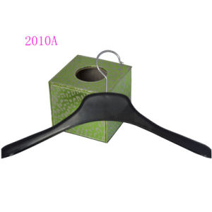 17 Inches Velvet Luxury Coat Black Adult Plastic Clothes Hanger pictures & photos
