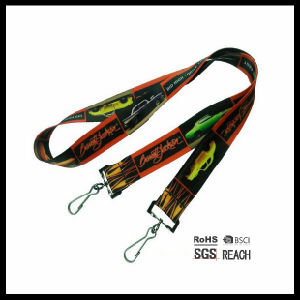 Double Clip Lanyards Two Hook Open Ended Designer Lanyards Design pictures & photos