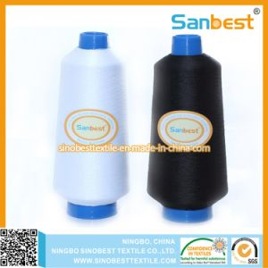 Continuous Polyester Textured Overlocking Thread with High Extensibility pictures & photos