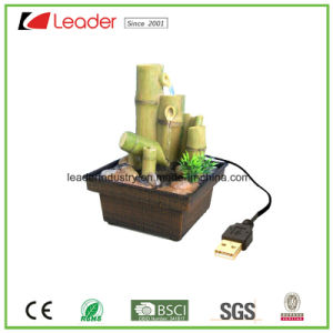 Hand Painted Resin Fountain with USB for Home and Table Decoration pictures & photos