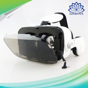 Original Leather 3D Cardboard Helmet Virtual Reality Vr Glasses Headset Stereo Box Bobo Vr for 4-6′ Mobile Phone pictures & photos